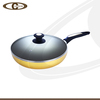 Frying pan with special bottom frypan with lid