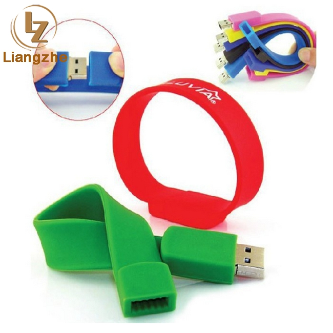 Wholesale Customized Logo Silicone Wrist Band Bracelet USB Flash Drive,factory price usb disk