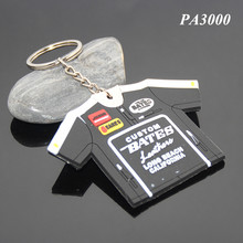 T-shirt Shape Brands Company Souvenir Key Chains Long Beach California Custom Soft PVC Rubber T-shirt Keychain