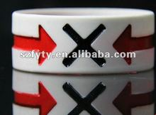 Popular sale unisex silicone bands customized