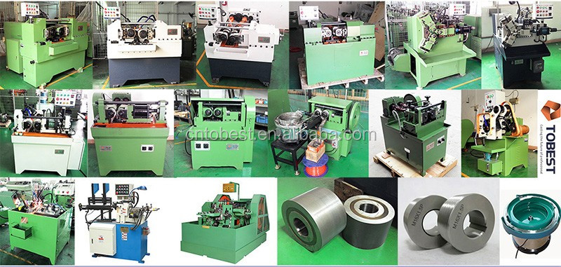 Thru feed thread rolling machine pipe fittings thread making machine