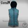 Promotional low price custoized label windproof fashion knitted fur vest made in China