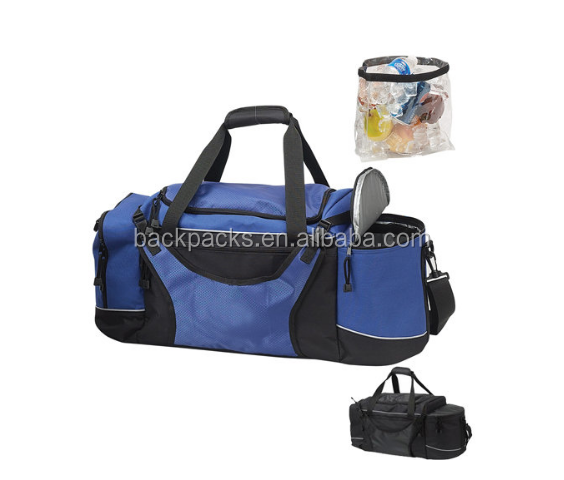 Sport Gym Duffel Travel Bag with Cooler Compartment