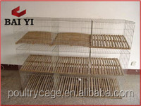 Used Commercial Rabbit Farm Cage with Pull Out Tray