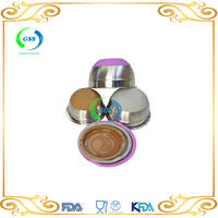 100% Food Grade Fruit stainless steel bowl with PP Lid