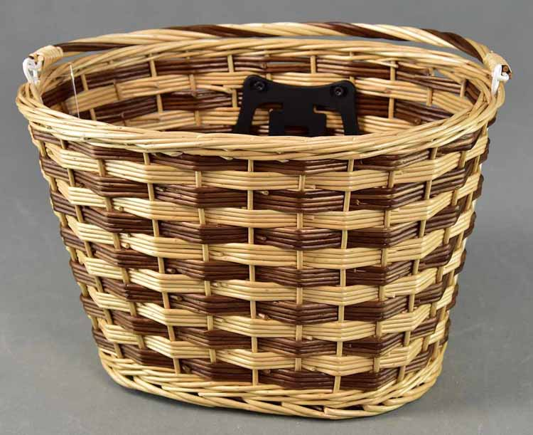 New design bicycle wicker basket for city bike BK-09