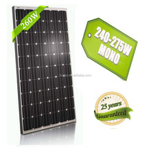 Cheap price 260w high quality solar panel for solar water pump and car batteries