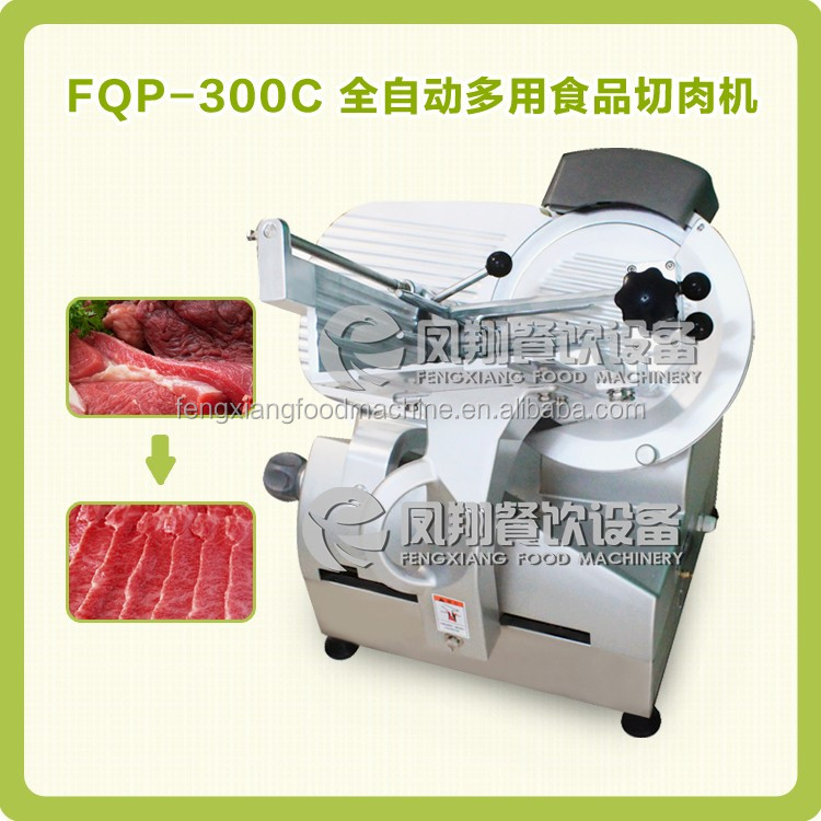 Table Model Frozen Meat Slicer Pork Slicing Beef Piece Cutting Machine