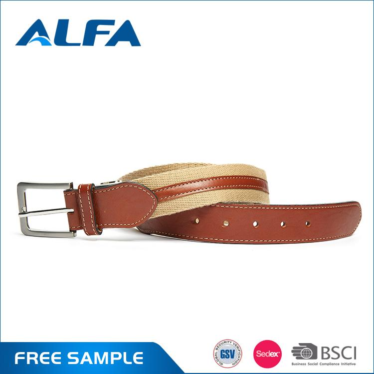 Alfa Hot Selling Products Custom Made High Quality Mens Canvas Military Belt With Buckle