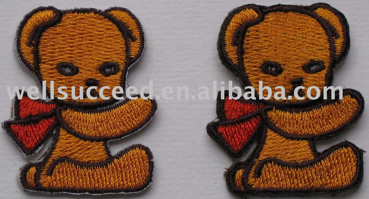 Iron-on Embroidery Bear Patches,Sew-on Embroidery Badges,Iron-on ...