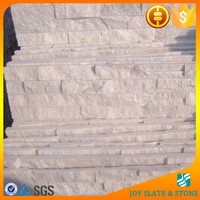 Brite white quartz stone veneer panels / thin brick stone veneer fireplace