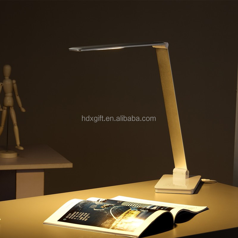 Huazeng simple design foldable office lamp, different design led lamp wholesale, power by adaptor/driver