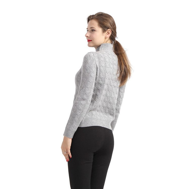 2017 hot selling new fashion design women weave pattern cashmere sweater