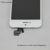 LCD display and touch screen digitizer full assembly for iphone 5s white