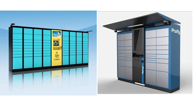 Smart electronic logistic electronic parcel delivery locker