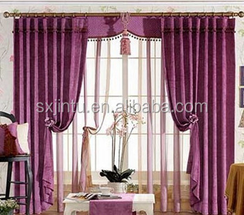 Elegant cheap price ready made blackout curtains