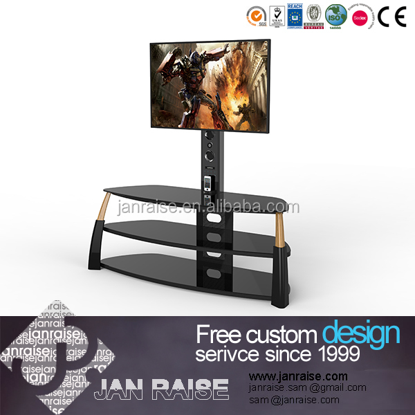 Living room led outdoor tv stand modern lcd glass tv stand design /corner tv stand