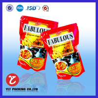 high quality custom stand up plastic snack food packing bag with zip lock
