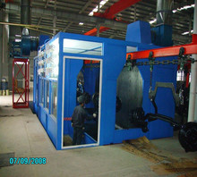 Mental parts spray painting machine and equipment