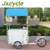 sturdy construction electric ice cream cart vending tricycle
