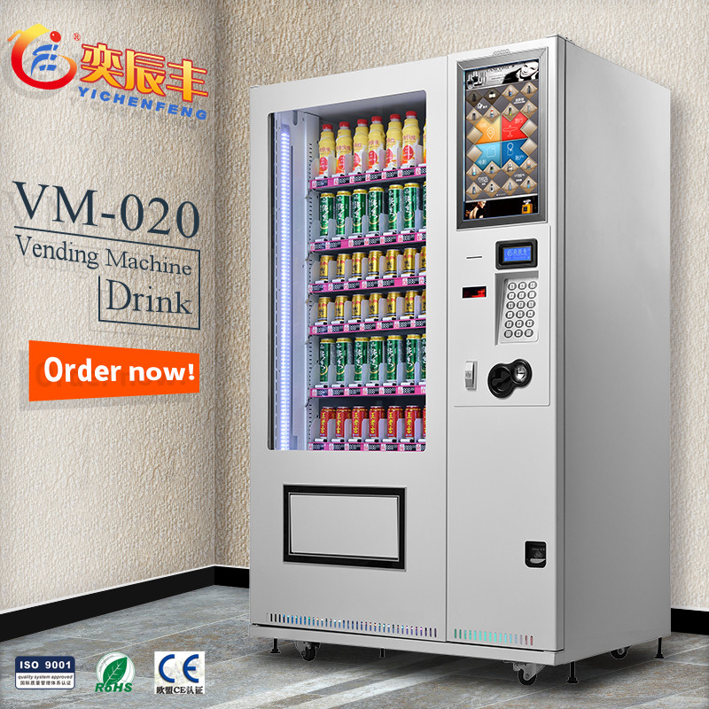 YCF-VM020 22 inch Touch screen hot food vending machine/mobile phone charging vending machine/cigarette vending machine for sale