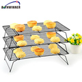 3 Tier Baking Cooling Cake Biscuit Space Saving Cake Stackable Stand with Tray Rack