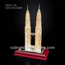new arrival Malaysia crystal twin towers model