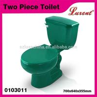 15-year professional oem experience ceramic siphonic flushing two piece dark green toilet