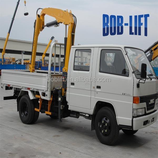Small Knuckle Boom Crane : Ton small folding arm crane hydraulic pump for lorry