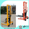 manual small forklift hydraulic stacker for cargo carry