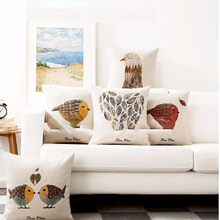 newest sofa pillows and cushion covers replacement with birds and leaved patterns