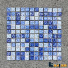 wholesale ice blue swimming pool tiles bright mix color family ceramic mosaic