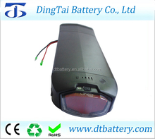 36v electric bicycle battery 36v 15ah 10s5p li-ion rear rack battery with tail light