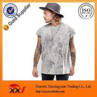 fashion men clothing oversized sleeveless t shirt acid wash blank t-shirts wholesale uk