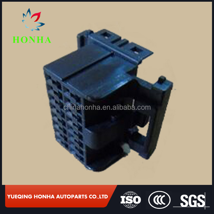 174046-2 black PA66 tyco TE female 16 Pin Way Plastic Auto Electric unsealed Housing Connector