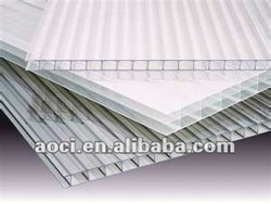 twin wall polycarbonate hollow sheet clear plastic window covers