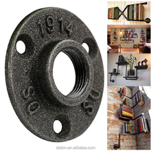 "1/2"" 3/4"" Malleable Iron Pipe Fitting Wall Mounted Floor Flange for decoration"