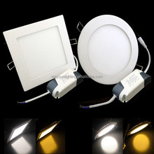 High quality 12W recessed ultra silm square LED panel light