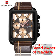 NF9111 Men Waterproof Sport Genuine Leather Charm multifunction Wrist Naviforce watch