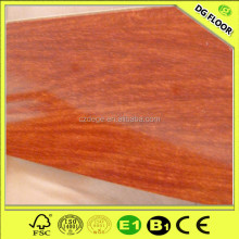 Pretty Mahogany Laminated Flooring,High Glosss Surface Laminated Floor