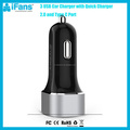 iFans Qualcomm Quick Car Charger 3.0 45W 3 USB Car Charger Type C Car Battery Charger Black