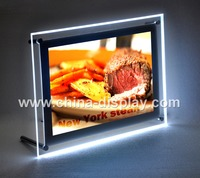 2017 hot sales acrylic led light box A3 A4 tabletop display light