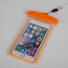 China wholesale waterproof cellphone bag pouch for All 4.8-5.8inch screen phones with clear window and glow at night