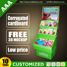 Grids cartoon printing cardboard display book stand for stationary