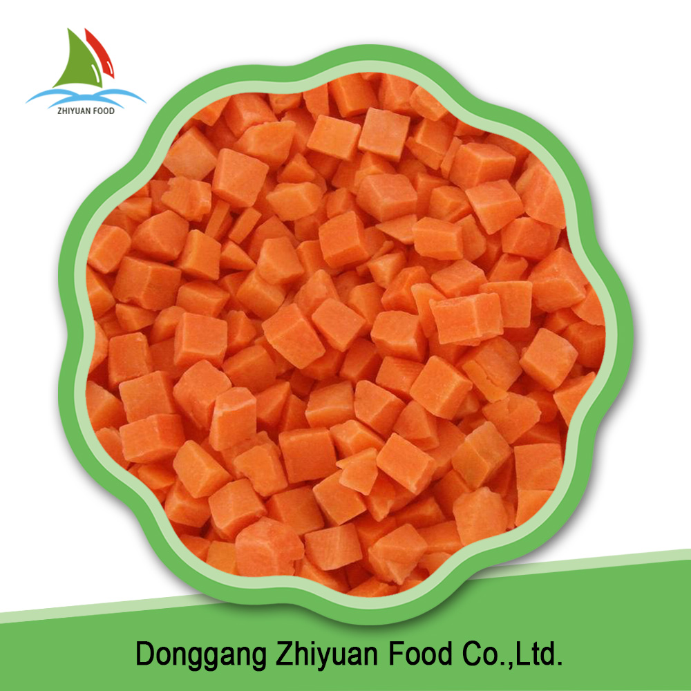 High quality healthy fresh food orange frozen carrot