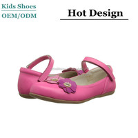 Factory supple girls leather belly shoes good sale real leather girls new model school shoes