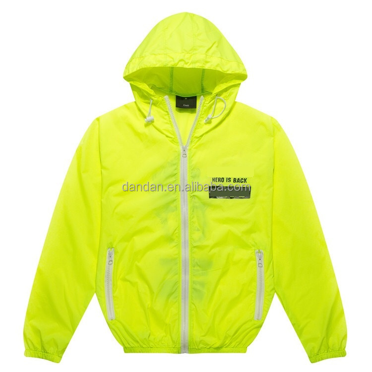 Men's silk screen printing logo hoodie jackets