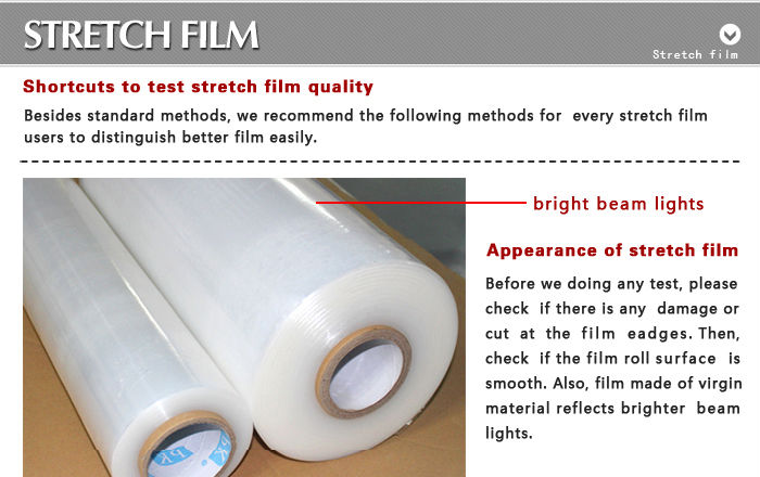 strong tensile colorful pe pallet shrink film wrap film