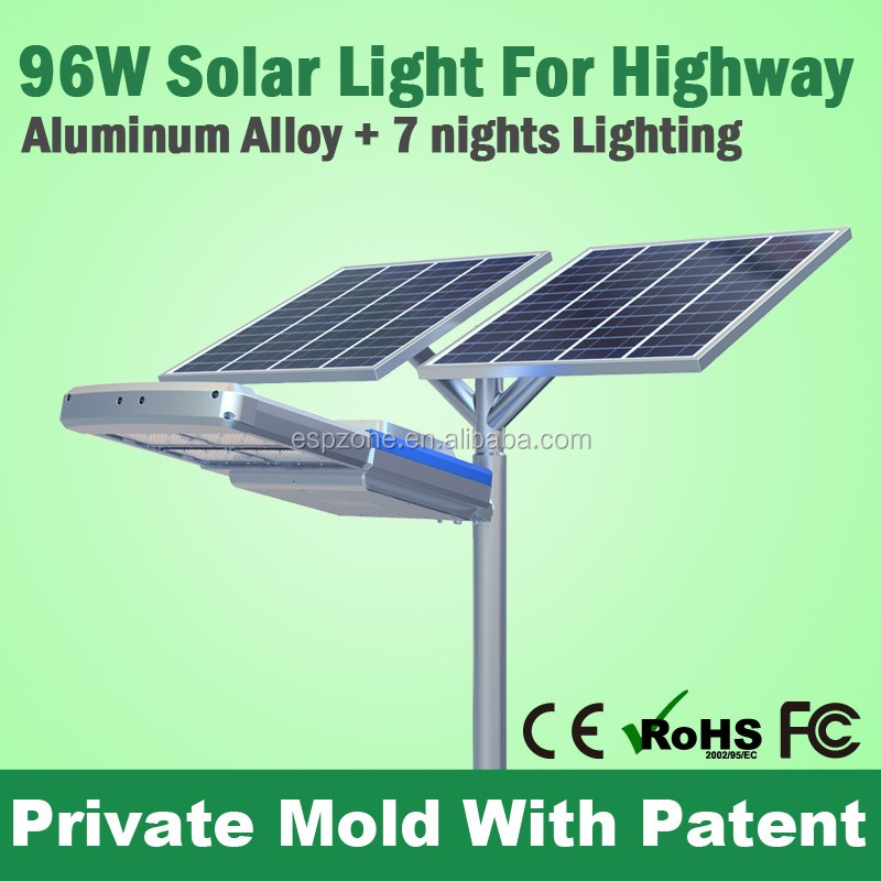 China High End Low Price Led 100W Sidewalk Solar Street Light Luminary