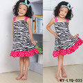 Sleeveless Strap Baby Satin Dresses Children Summer Frocks Girl Zebra Striped Dress